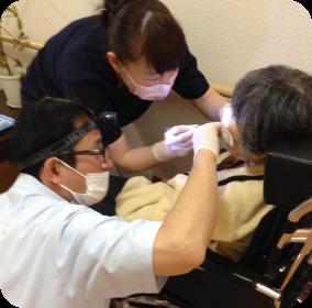 画像イメージ:訪問歯科診療にも対応
